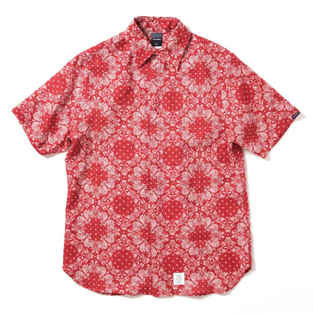 APPLEBUM Linen Paisley S/S Shirt [RED]