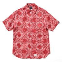 [SUPER SALE/20%OFF!!]APPLEBUM Linen Paisley S/S Shirt [RED]