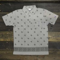 [SUPER SALE/半額!!]Champion Paisley Polo Shirt[OXFORD GRAY]