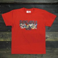 DC CLOTHING B AND BEE T-SHIRTS[RED]