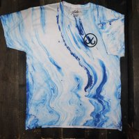 [SUPER SALE/30%OFF]JSLV HOOKS 2 MARBLE T-SHIRT [WHITE/BLUE] - MSC8122