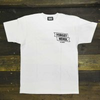 FORGET NEVER  RIBBON ANKH T-SHIRT[WHT/BLK]