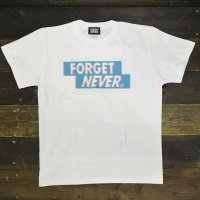 FORGET NEVER  3D BOX T-SHIRT[WHT/BLUE]