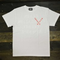 FORGET NEVER OLD LETTER T-SHIRT[WHT]