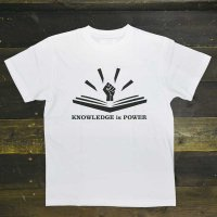 DC CLOTHING KNOWLEDGE IS POWER T-SHIRTS[WHT]