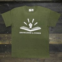 DC CLOTHING KNOWLEDGE IS POWER T-SHIRTS[CITYGREEN]