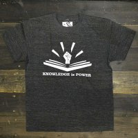 DC CLOTHING KNOWLEDGE IS POWER T-SHIRTS[H.BLK]