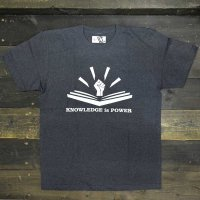 DC CLOTHING KNOWLEDGE IS POWER T-SHIRTS[DH.NAVY]