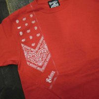 [SUPER SALE/40%OFF]BALANCE STREET WEAR BANDANA SHOOTING T-Shirts[RED]