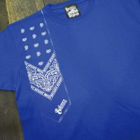 [SUPER SALE/50%OFF]BALANCE STREET WEAR BANDANA SHOOTING T-Shirts[BLUE]