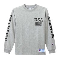 Champion Long Sleeve T-shirt[OXFORD GRAY]