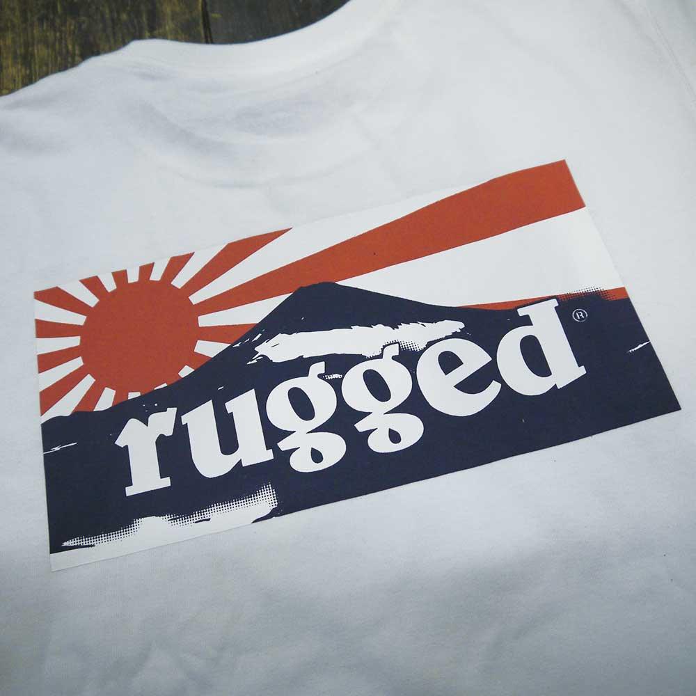 RUGGED RISING SUN T-SHIRTS [WHITE]