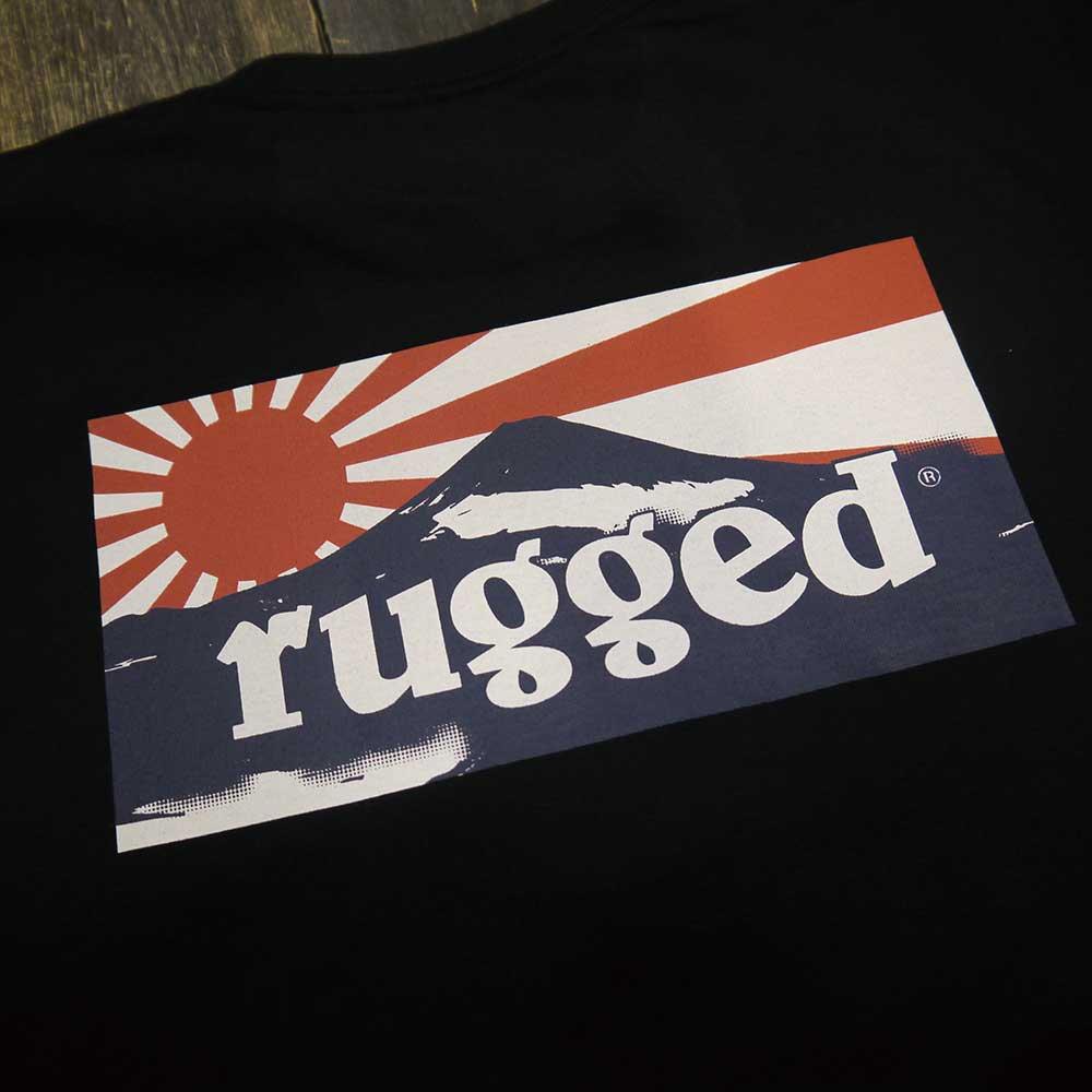 RUGGED RISING SUN T-SHIRTS [BLACK]