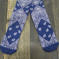 PAISLEY HIGH SOCKS [ROYAL]