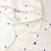 [SUPER SALE/半額!!]Champion PULLOVER HOODED SWEATSHIRT[WHITE] - C3-J116