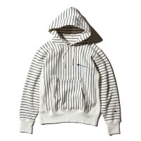 [SUPER SALE/30%OFF!!]Champion REVERSE WEAVE STRIPE PULLOVER HOODED SWEATSHIRT[OFFWHITE] - C3-J104