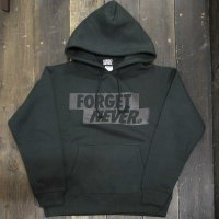 FORGET NEVER  BOX LOGO HOODIE[BLK/BLK]