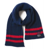 【SUPER SALE/30%OFF】APPLEBUM TILDEN STRETCH MUFFLER [BLUE] - 1821005 - O