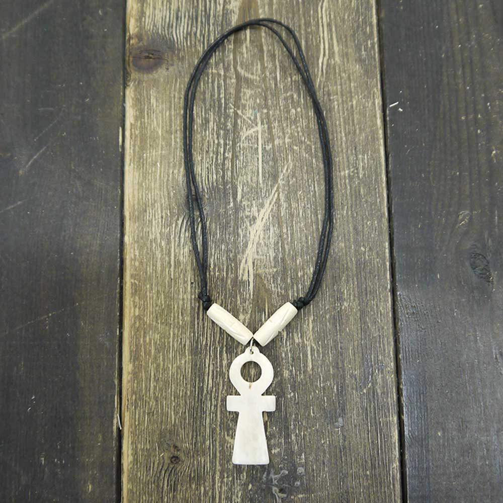 ANKH NECKLACE [WHITE]