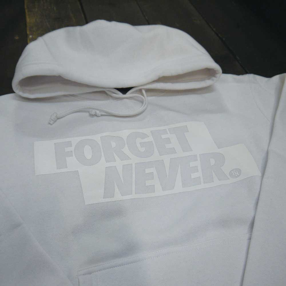 FORGET NEVER  BOX LOGO HOODIE[WHITE/W...