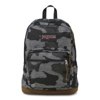 JANSPORT RIGHT PACK EXPRESSIONS BACKPACK[GRAY DENIM CAMO JACQUARD]