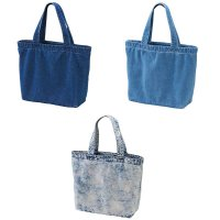 UNITED ATHLE 3971 DENIM LARGE TOTE BAG[3 Color] - オリジナルプリント対応/オリジナル刺繍対応