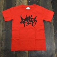 PANIC LOGO T-SHIRTS[RED] - KIDS