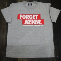 FORGET NEVER CRASSIC RED BOX LOGO T-SHIRT[GREY]