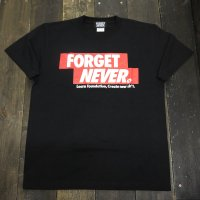 FORGET NEVER CRASSIC RED BOX LOGO T-SHIRT[BLACK]
