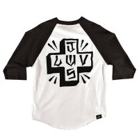 JSLV PLACA SELECT RAGLAN [BLACK/WHITE]  - MRS8019