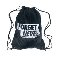 FORGET NEVER BOX LOGO DRAW STRINGBAG[BLACK]