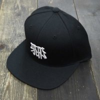 RUGGED × CICCIO aka chief KANJI SNAPBACK[BLACK CAP/WHITE STITCH]