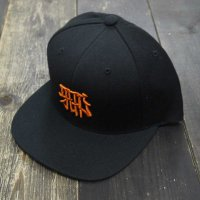 RUGGED × CICCIO aka chief KANJI SNAPBACK[BLACK CAP/ORANGE STITCH]