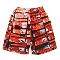 APPLEBUM ORANGE KICKS BOX BASKETBALL MESH SHORTS - 1710801