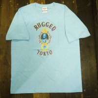 RUGGED JAH SAPPHIRE T-SHIRTS[LIGHT BLUE]