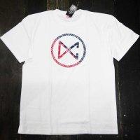 DC CLOTHING PAISLEY CIRCLE LOGO T-SHIRTS[WHITE]