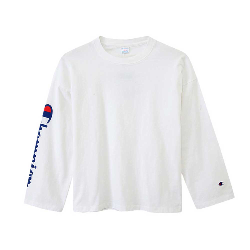 Champion LONG SLEEVE T-SHIRT[WHITE] -...