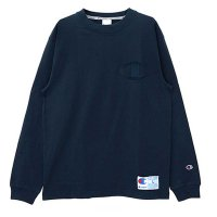 Champion BIG LOGO ACTION STYLE LONG SLEEVE T-SHIRT[NAVY] - C3-L422