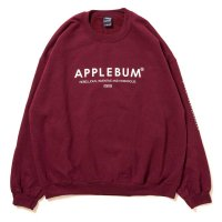 APPLEBUM CUBE LOGO CREW SWEAT[BURGUNDY] - 1720404