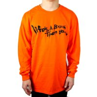 FORGET NEVER LIFE'S A BXXCH LONG SLEEVE T-SHIRT[ORANGE]