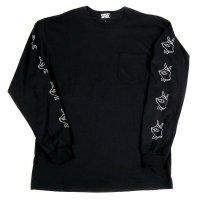 FORGET NEVER TIE BREAK POCKET LONG SLEEVE T-SHIRT[BLACK]