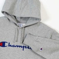 Champion LOGO PRINT PULLOVER HOODED SWEATSHIRT[OXFORDGRAY] - C3-J117