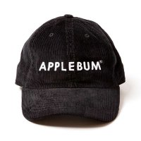 APPLEBUM LOGO CORDUROY CAP [BLACK] - 1720903<img class='new_mark_img2' src='//img.shop-pro.jp/img/new/icons5.gif' style='border:none;display:inline;margin:0px;padding:0px;width:auto;' />