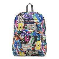 JANSPORT SUPERBREAK BACKPACK[MULTI MIXTAPES] - T501