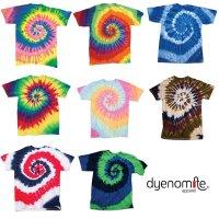 DYENOMITE TIE DYE SPIRAL T-SHIRTS[8 color] タイダイスパイラルTシャツ - オリジナルプリント/オリジナル刺繍対応
