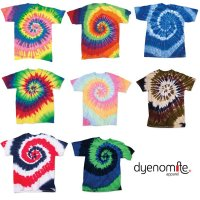 [ DYENOMITE ] TIE DYE SPIRAL T-SHIRTS - ダイナマイト タイダイ スパイラル Tシャツ (プリント/刺繍対応)