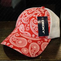 [SUPER SALE/半額 50%OFF]DECKY PAISLEY MESH CAP[RED]