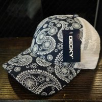 [SUPER SALE/40%OFF]DECKY PAISLEY MESH CAP[NAVY]