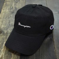 Champion FRONT LOGO COTTON LOW CAP[BLACK] - 381-0047