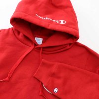 Champion BIG LOGO PULLOVER HOODED SWEATSHIRT[MAROON] - C3-L119